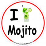 STICKER I LOVE MOJITO