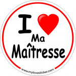 STICKER I LOVE MA MAITRESSE