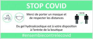 ADHESIF VITRINE STOP COVID EXPLICATIF