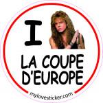 STICKER I LOVE LA COUPE D'EUROPE