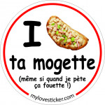 STICKER I LOVE TA MOGETTE