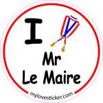 STICKER I LOVE MR LE MAIRE