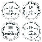 MINIS STICKERS TEAM DE LA MARIEE