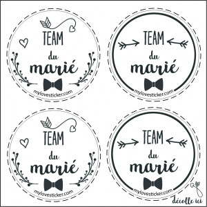 MINIS STICKERS TEAM DU MARIE