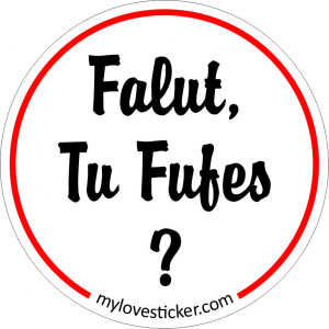 STICKER FALUT TU FUFES ?