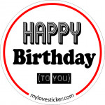 STICKER HAPPY BIRTHDAY (TO YOU)
