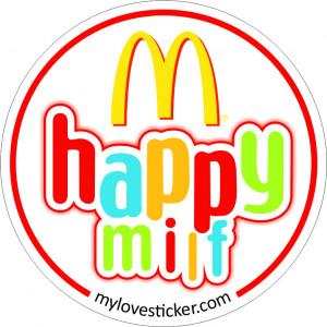 STICKER HAPPY MILF