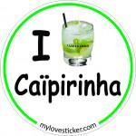 STICKER I LOVE CAIPIRINHA