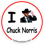 STICKER I LOVE CHUCK NORRIS