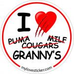 STICKER I LOVE GRANNY'S