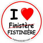 STICKER I LOVE FINISTERE