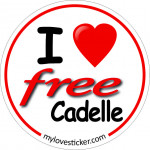 STICKER I LOVE FREECADELLE