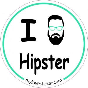 STICKER I LOVE HIPSTER