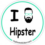 STICKER I LOVE HIPSTER
