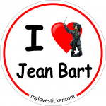 STICKER I LOVE JEAN BART
