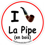 STICKER I LOVE LA PIPE