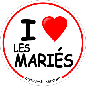 STICKER I LOVE LES MARIES