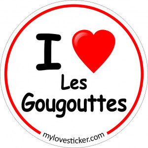 STICKER I LOVE LES GOUGOUTTES