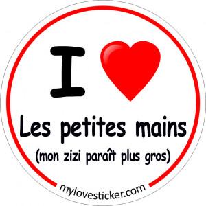 STICKER I LOVE LES PETITES MAINS