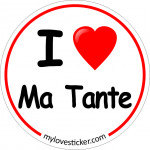 STICKER I LOVE MA TANTE