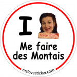 STICKER I LOVE ME FAIRE DES MONTAIS
