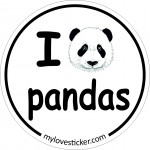 STICKER I LOVE PANDAS