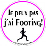 STICKER JE PEUX PAS J'AI FOOTING