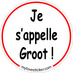 STICKER JE S'APPELLE GROOT