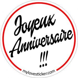 STICKER JOYEUX ANNIVERSAIRE