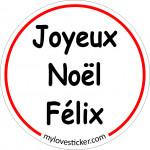 STICKER JOYEUX NOEL FELIX