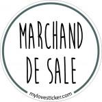 STICKER MARCHAND DE SALE