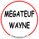 STICKER MEGATEUF WAYNE