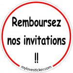 STICKER REMBOURSEZ NOS INVITATIONS