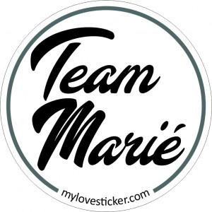 STICKER TEAM MARIE