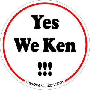 STICKER YES WE KEN !!!