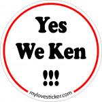 STICKER YES WE KEN