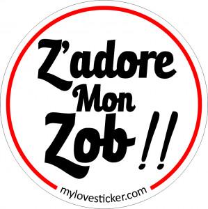 STICKER Z'ADORE MON ZOB