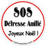 STICKER SOS DETRESSE AMITIE (Joyeux Noël)