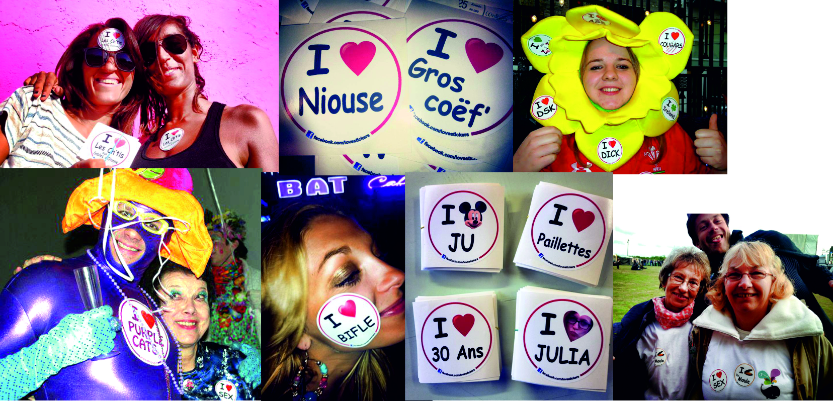lovesticker fan autocollant adhesif soiree
