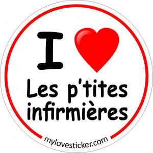 STICKER I LOVE LES P'TITES INFIRMIERES