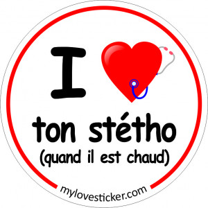 STICKER I LOVE TON STETHO
