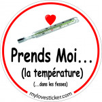 STICKER PRENDS MOI... LA TEMPERATURE