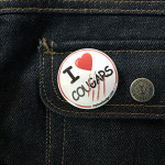 BADGE I LOVE COUGARS