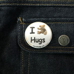 BADGE I LOVE HUGS