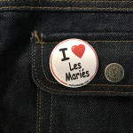BADGE I LOVE LES MARIES