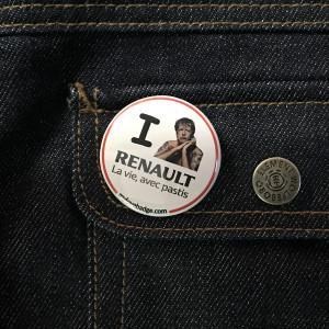 BADGE I LOVE RENAULT