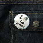 BADGE I LOVE TON BONNET