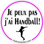 STICKER JE PEUX PAS J'AI HANDBALL