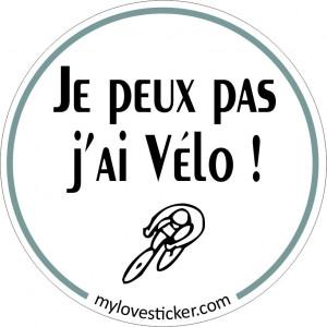 STICKER JE PEUX PAS J'AI VELO