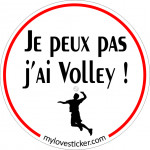 STICKER JE PEUX PAS J'AI VOLLEY